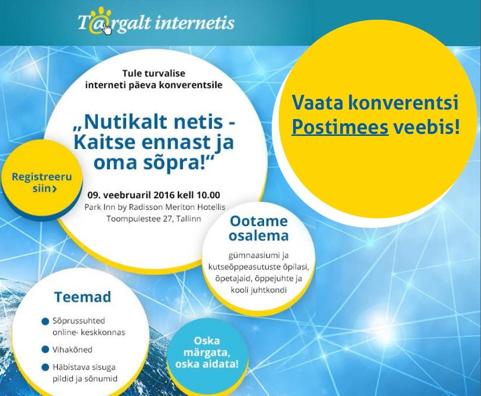 4aeb7dd5b57 Täna on turvalise interneti päev! - Targalt Internetis